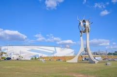 Μνημείο Ο Passageiro στην πόλη Londrina στοκ φωτογραφία με δικαίωμα ελεύθερης χρήσης