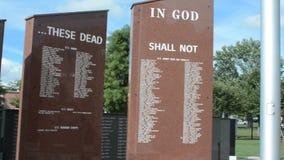 Μνημείο παλαιμάχων στην πόλη Τένεσι Johnson απόθεμα βίντεο