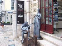 Μνημείο που γιορτάζει Fado στη Λισσαβώνα, Πορτογαλία Στοκ Φωτογραφία