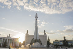Μνημείο πυραύλων στο πάρκο Στοκ Φωτογραφία