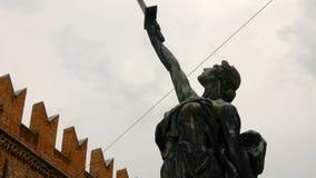 Μνημείο σε πεσμένη της 14ης Νοεμβρίου 1915, πλατεία delle Erbe Βερόνα απόθεμα βίντεο
