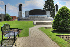 Μνημείο σε Brantford, Καναδάς στο κουδούνι του Αλεξάνδρου Graham στοκ εικόνες με δικαίωμα ελεύθερης χρήσης