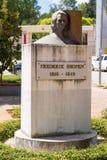Μνημείο σε Fryderyk Chopin στα Τίρανα, Αλβανία στοκ φωτογραφία