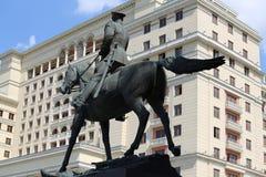 Μνημείο σε marshal Zhukov Στοκ Εικόνα