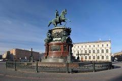 Μνημείο σε Nikolai ο πρώτος στη Αγία Πετρούπολη στοκ φωτογραφία με δικαίωμα ελεύθερης χρήσης
