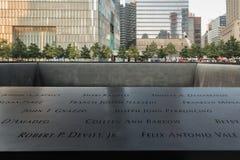 9-11 μνημείο σε NYC - ExplorationVacation καθαρός Στοκ Εικόνα