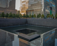 9-11 μνημείο σε NYC - ExplorationVacation καθαρός Στοκ εικόνες με δικαίωμα ελεύθερης χρήσης