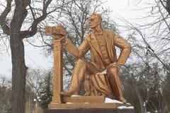 Μνημείο σε Semyon Euzovich Duvan στο τετράγωνο θεάτρων στο ρ στοκ φωτογραφίες με δικαίωμα ελεύθερης χρήσης