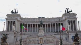 Μνημείο σε Vittorio Emanuele ΙΙ στη Ρώμη απόθεμα βίντεο
