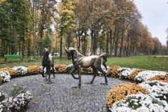 Μνημείο στα άλογα στο πάρκο του Γκόρκυ σε Kharkiv Στοκ φωτογραφία με δικαίωμα ελεύθερης χρήσης