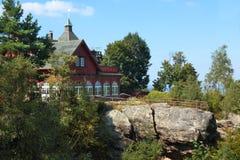 Μνημείο στα γερμανικά βουνά Izera Στοκ φωτογραφία με δικαίωμα ελεύθερης χρήσης