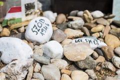 Μνημείο στα εβραϊκά θύματα στο τετράγωνο ελευθερίας Στοκ εικόνα με δικαίωμα ελεύθερης χρήσης