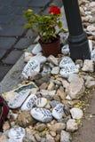 Μνημείο στα εβραϊκά θύματα στο τετράγωνο ελευθερίας Στοκ εικόνες με δικαίωμα ελεύθερης χρήσης