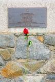 Μνημείο στα θύματα ολοκαυτώματος στο λιμένα Αγίου Peter Στοκ εικόνες με δικαίωμα ελεύθερης χρήσης