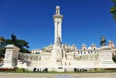 Μνημείο στα δικαστήρια του Καντίζ, 1812 σύνταγμα, Ανδαλουσία, Ισπανία Στοκ φωτογραφίες με δικαίωμα ελεύθερης χρήσης