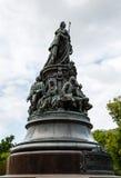 Μνημείο στη βασίλισσα Ekaterina και τις συμπάθειές της Στοκ εικόνα με δικαίωμα ελεύθερης χρήσης