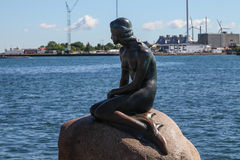 Μνημείο στη μικρή γοργόνα, Κοπεγχάγη Στοκ Εικόνες