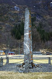 Μνημείο στη μνήμη των στρατιωτών Laerdal, Νορβηγία 4 Μαΐου 2013 Στοκ Εικόνα
