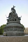 Μνημείο στη χιλιετία της Ρωσίας σε Novgorod ο μεγάλος (Veliky Novgorod) Ρωσία Στοκ Εικόνες