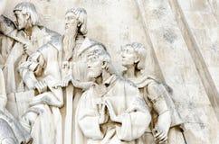 Μνημείο στις ανακαλύψεις στο πορτογαλικό μνημείο DOS Descobrimentos Padrao στις βόρειες όχθεις του ποταμού Tagus Λισσαβώνα στοκ εικόνες