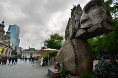 Μνημείο στις ιθαγενείς armas de plaza Σαντιάγο Χιλή Στοκ Φωτογραφία