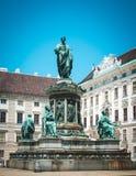 Μνημείο στον αυτοκράτορα Franz I στο ελβετικό δικαστήριο Αυστρία Βιέννη Στοκ φωτογραφία με δικαίωμα ελεύθερης χρήσης