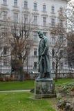 Μνημείο στον αυτοκράτορα Franz Joseph I στο πάρκο Burggarten, το αυτοκρατορικό παλάτι Στοκ εικόνα με δικαίωμα ελεύθερης χρήσης