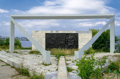 Μνημείο στον επιστήμονα Mendeleev Δ Ι σε ανώτερο Ufaley Στοκ Φωτογραφία