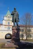 Μνημείο στον καθηγητή V Β Στενός επάνω Dokuchaev, ημέρα Απριλίου Tsarskoye Selo Στοκ Εικόνες