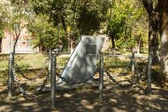 Μνημείο στον πειραματικός-εκπαιδευτικό Davydchenko Ι Ι Βόλγκογκραντ Στοκ φωτογραφίες με δικαίωμα ελεύθερης χρήσης