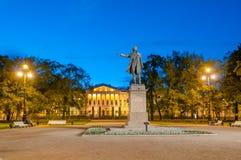 Μνημείο στον ποιητή Αλέξανδρος Pushkin σπουδαίου Ρώσου σε Ploshcha Στοκ Φωτογραφίες