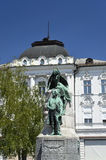 Μνημείο στον ποιητή Γαλλία Preseren, Λουμπλιάνα Στοκ εικόνες με δικαίωμα ελεύθερης χρήσης