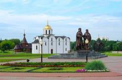 Μνημείο στον πρίγκηπα Αλέξανδρος Nevsky, Annunciation εκκλησία, Vitebs Στοκ εικόνες με δικαίωμα ελεύθερης χρήσης