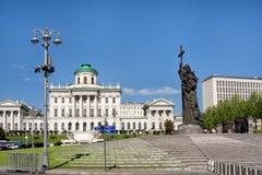 Μνημείο στον πρίγκηπα Βλαντιμίρ, ο βαπτιστικός, στην πλατεία Borovitskaya στοκ εικόνες με δικαίωμα ελεύθερης χρήσης
