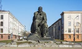Μνημείο στον της Λευκορωσίας συγγραφέα Yakub Kolos στο Μινσκ Λευκορωσία Στοκ εικόνα με δικαίωμα ελεύθερης χρήσης