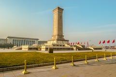 Μνημείο στους ήρωες των ανθρώπων στην πλατεία Tian'anmen, Πεκίνο Στοκ εικόνες με δικαίωμα ελεύθερης χρήσης