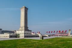 Μνημείο στους ήρωες των ανθρώπων στην πλατεία Tian'anmen, Πεκίνο Στοκ Φωτογραφία