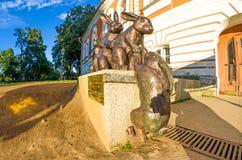 Μνημείο στους λαγούς, νησί λαγών ` s στο Peter και φρούριο του Paul Πετρούπολη Άγιος Στοκ φωτογραφία με δικαίωμα ελεύθερης χρήσης