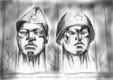 Μνημείο στους απελευθερωτές στρατιωτών διανυσματική απεικόνιση