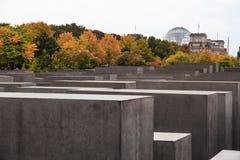 Μνημείο στους δολοφονημένους Εβραίους της Ευρώπης γνωστής επίσης ως ολοκαύτωμα τα αναμνηστικά γερμανικά: Ολοκαύτωμα Mahnmal στο Β στοκ φωτογραφίες με δικαίωμα ελεύθερης χρήσης