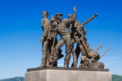 Μνημείο στους οικοδόμους komsomolsk-NA-Amure Στοκ φωτογραφίες με δικαίωμα ελεύθερης χρήσης