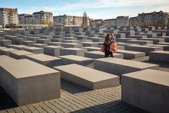 Μνημείο στους δολοφονημένους Εβραίους της Ευρώπης, που σχεδιάζεται από τον αρχιτέκτονα Peter Eisenman και το μηχανικό Buro Happol Στοκ φωτογραφίες με δικαίωμα ελεύθερης χρήσης