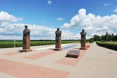 Μνημείο στους ρωσικούς στρατιωτικούς διοικητές στον τομέα Prokhorovka στοκ εικόνες