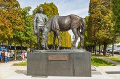 Μνημείο στους ρωσικούς στρατιώτες στο Παρίσι Στοκ Φωτογραφία