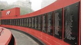 Μνημείο στους στρατιώτες πεσμένος στις Μαλβίνη απόθεμα βίντεο