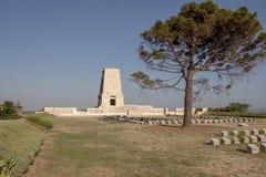 Μνημείο στους τομείς μάχης Gallipoli στην Τουρκία Στοκ Φωτογραφία
