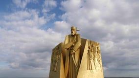 Μνημείο στο έτος Hetman Petro Sahaidachnyi butle το 1621 φιλμ μικρού μήκους