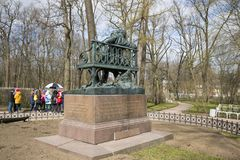 Μνημείο στο Α S Pushkin σε Tsarskoe Selo Στοκ φωτογραφία με δικαίωμα ελεύθερης χρήσης
