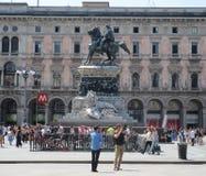 Μνημείο στο βασιλιά Victor Emmanuel ΙΙ Στοκ φωτογραφίες με δικαίωμα ελεύθερης χρήσης