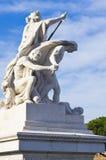 Μνημείο στο ενετικό τετράγωνο, Ρώμη Ιταλία Στοκ Εικόνες